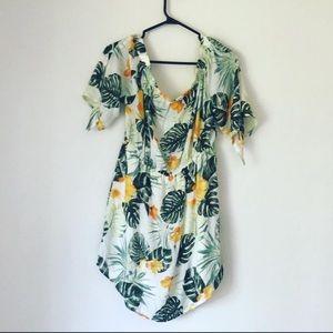 NEW OFF SHOULDER MID LENGTH FLORAL DRESS